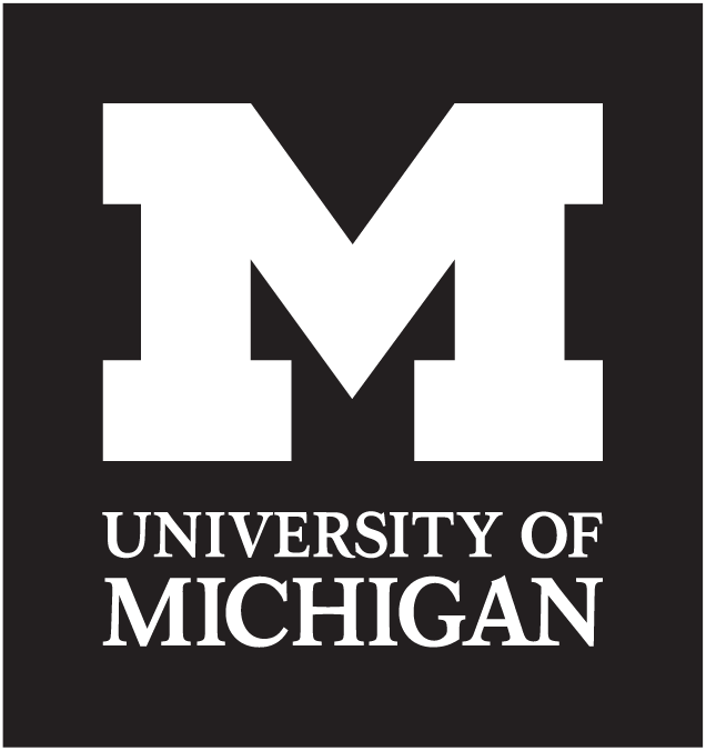 Black Logo with outline - University of Michigan