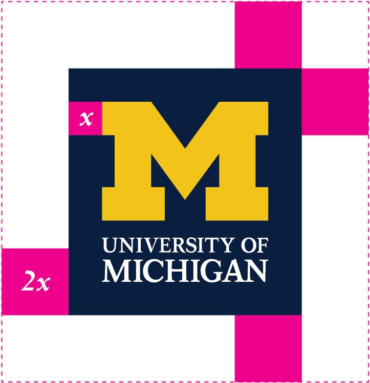 Primary U-M logo - safe space