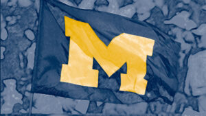 zoom background of the michigan flag